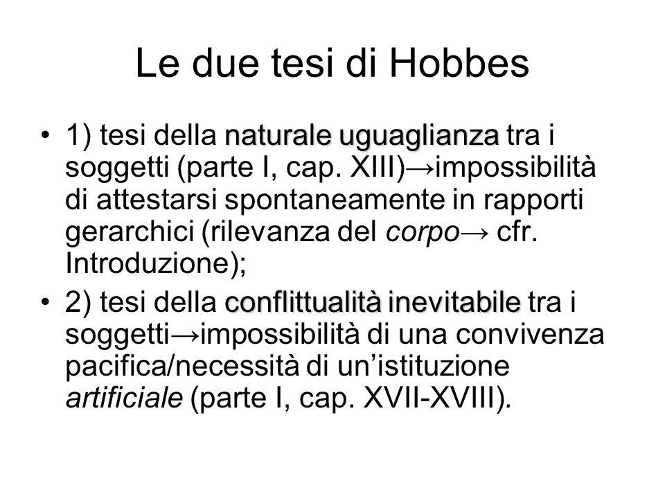 Le due tesi di Hobbes