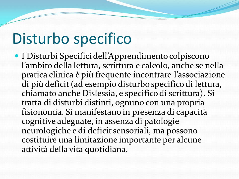 Disturbo specifico