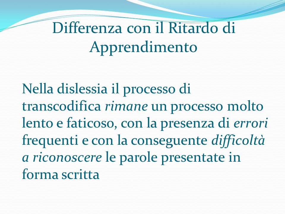 Differenza con il Ritardo di Apprendimento