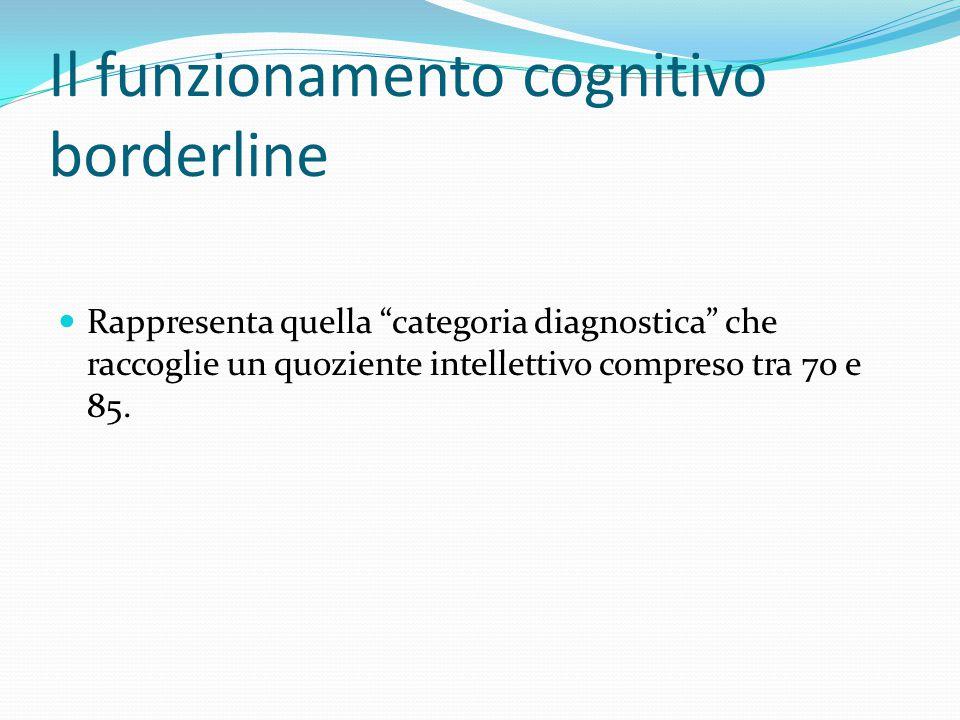 Il funzionamento cognitivo borderline