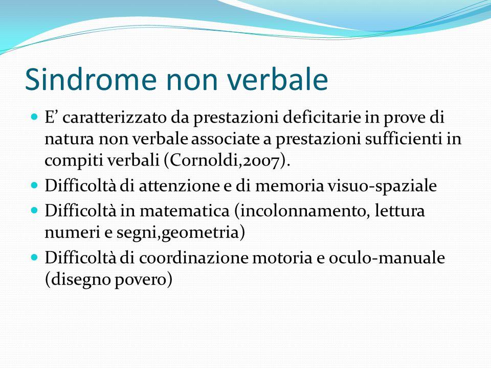 Sindrome non verbale