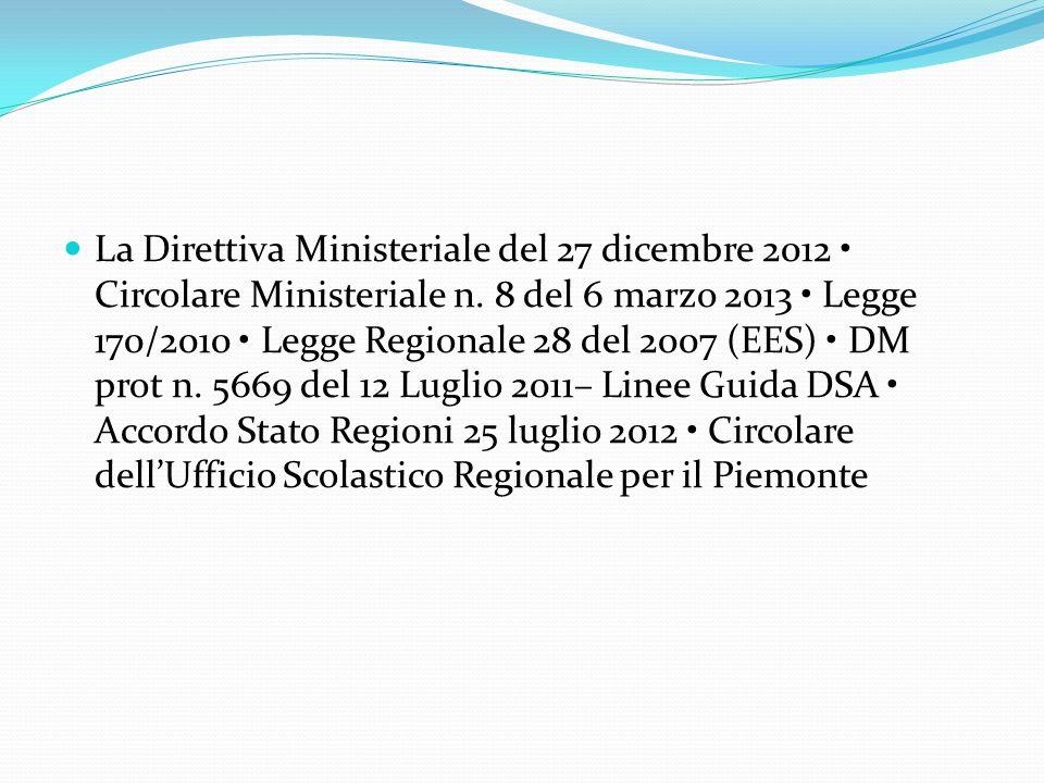 La Direttiva Ministeriale del 27 dicembre 2012 • Circolare Ministeriale n.