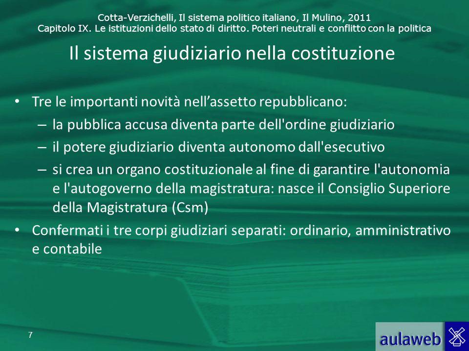 Il sistema giudiziario nella costituzione