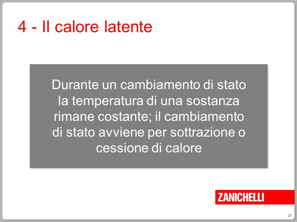 4 - Il calore latente