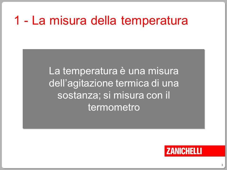 1 - La misura della temperatura