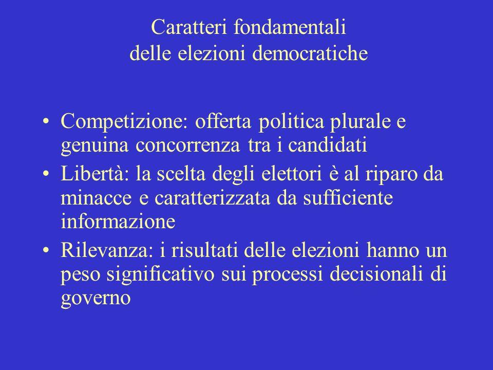 Caratteri fondamentali delle elezioni democratiche