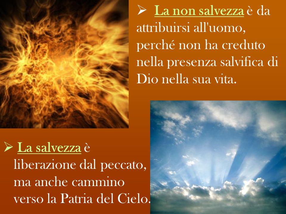 La non salvezza è da attribuirsi all uomo, perché non ha creduto nella presenza salvifica di Dio nella sua vita.