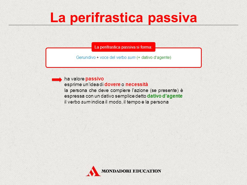 La perifrastica passiva