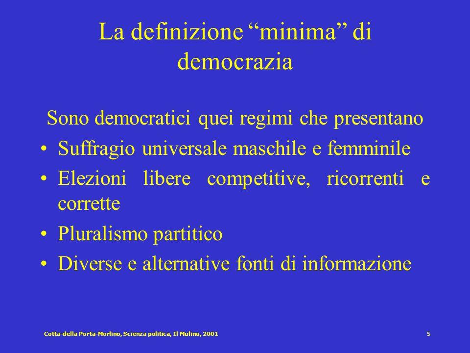 La definizione minima di democrazia