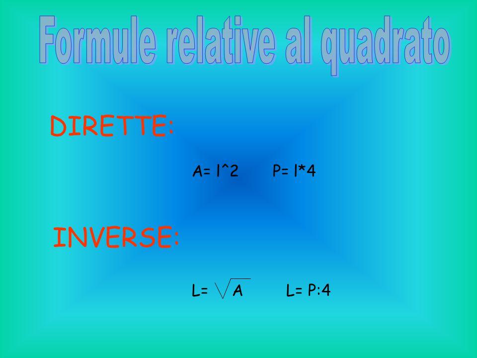 Formule relative al quadrato