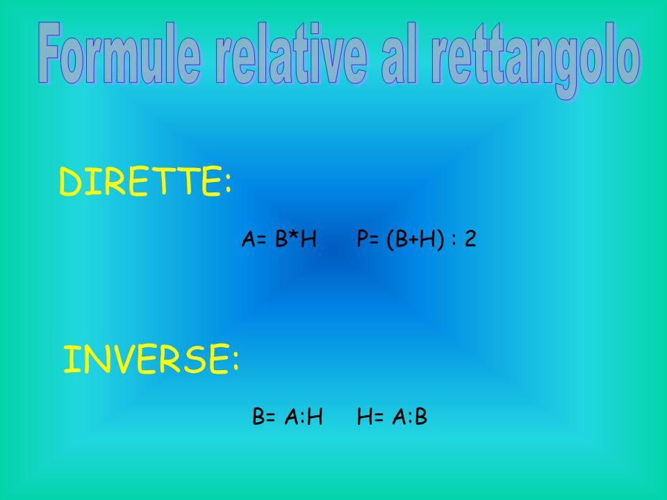 Formule relative al rettangolo