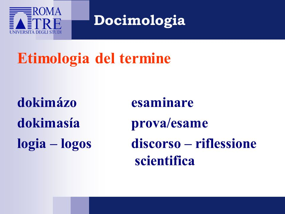 Etimologia del termine