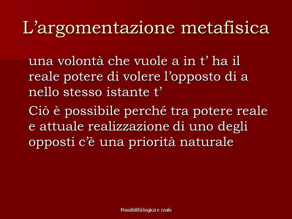 L'argomentazione metafisica