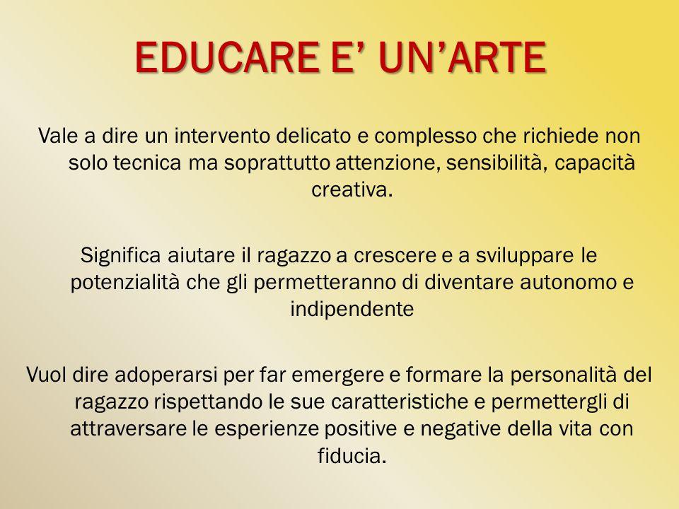 EDUCARE E' UN'ARTE