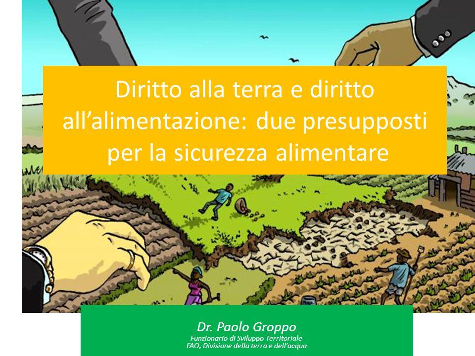 Diritto alla terra e diritto all'alimentazione: due presupposti per la sicurezza alimentare