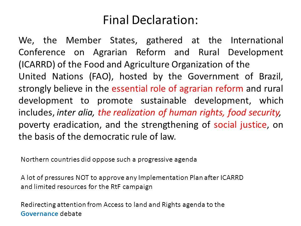 Final Declaration: