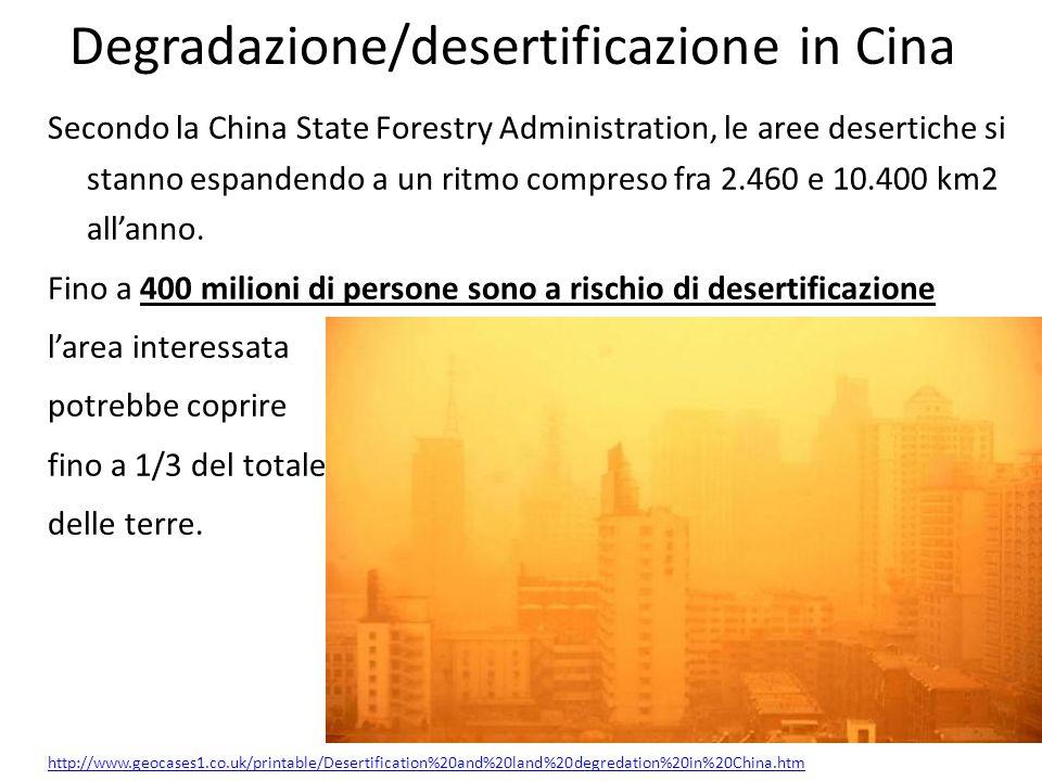 Degradazione/desertificazione in Cina