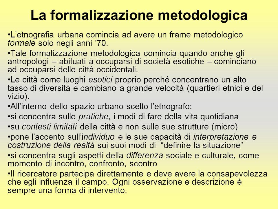 La formalizzazione metodologica