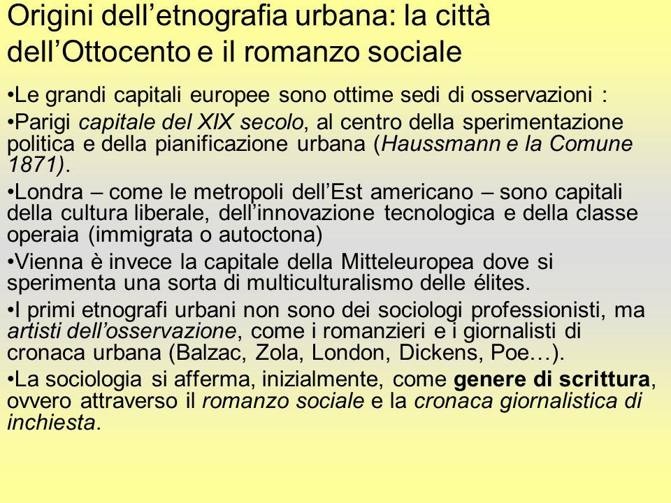 Origini dell'etnografia urbana: la città dell'Ottocento e il romanzo sociale