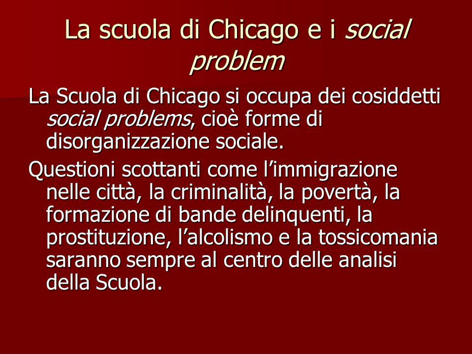 La scuola di Chicago e i social problem