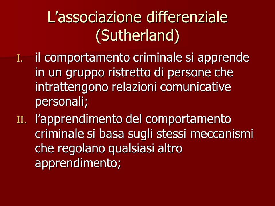 L'associazione differenziale (Sutherland)