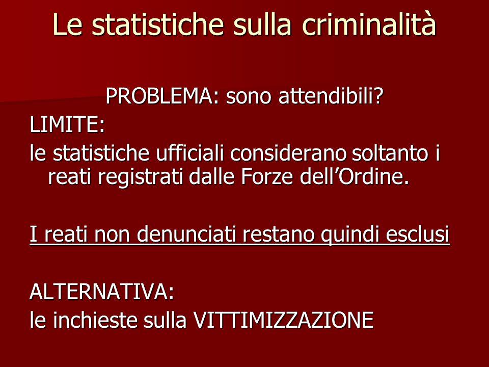 Le statistiche sulla criminalità