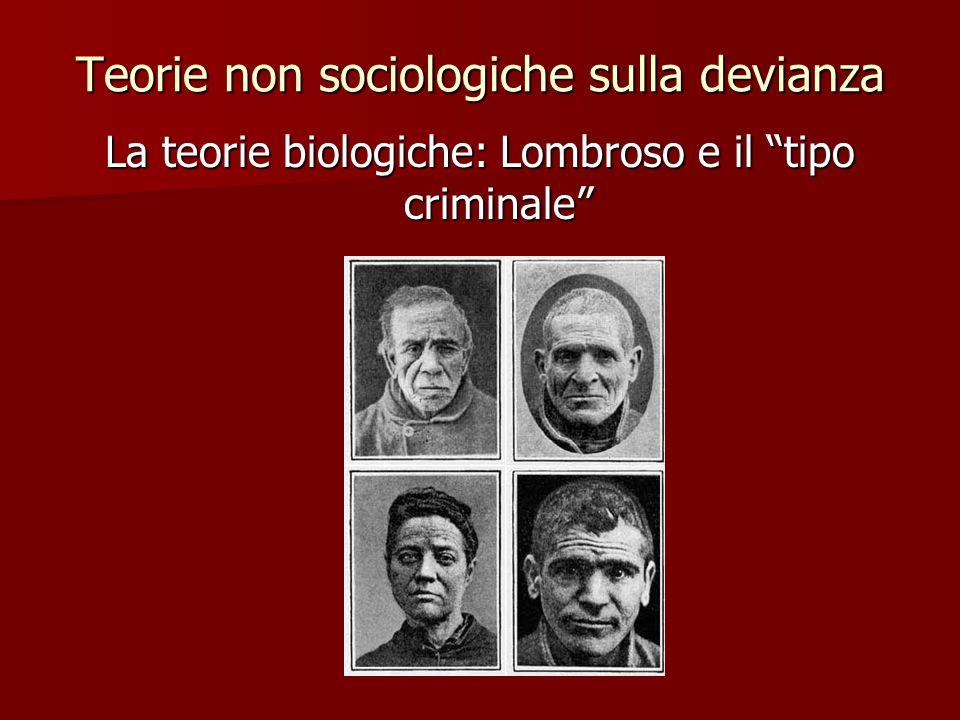 Teorie non sociologiche sulla devianza