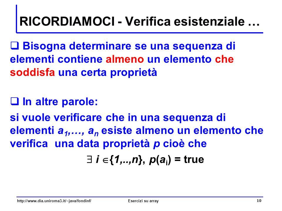 RICORDIAMOCI - Verifica esistenziale …