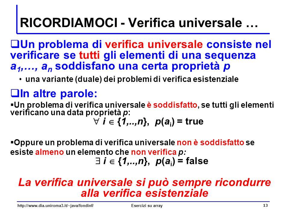 RICORDIAMOCI - Verifica universale …