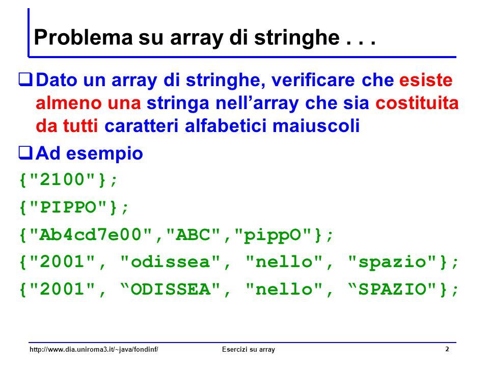 Problema su array di stringhe . . .