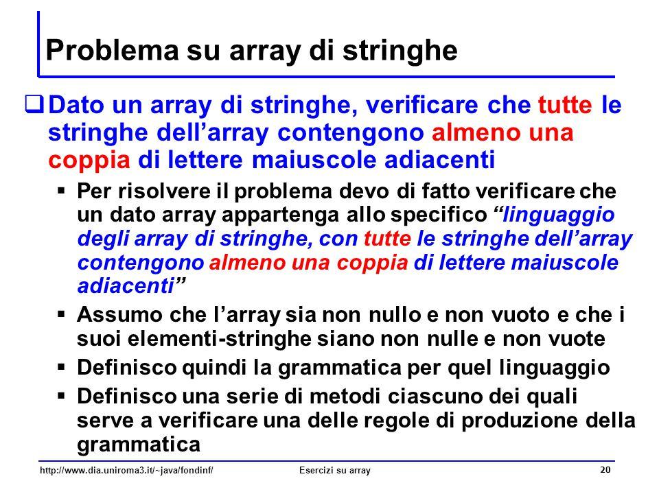 Problema su array di stringhe