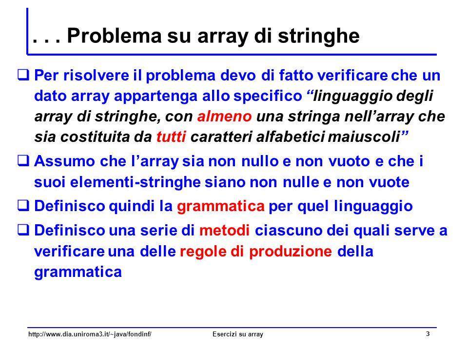 . . . Problema su array di stringhe