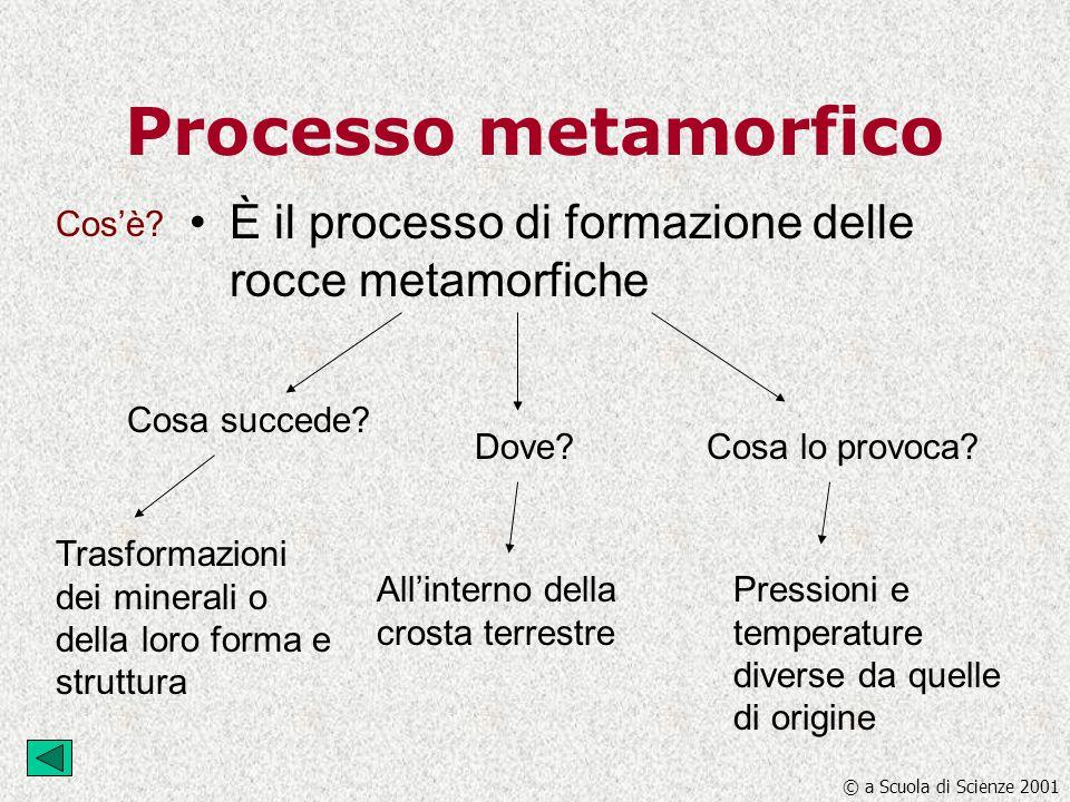 Processo metamorfico È il processo di formazione delle rocce metamorfiche. Cos'è Cosa succede Dove