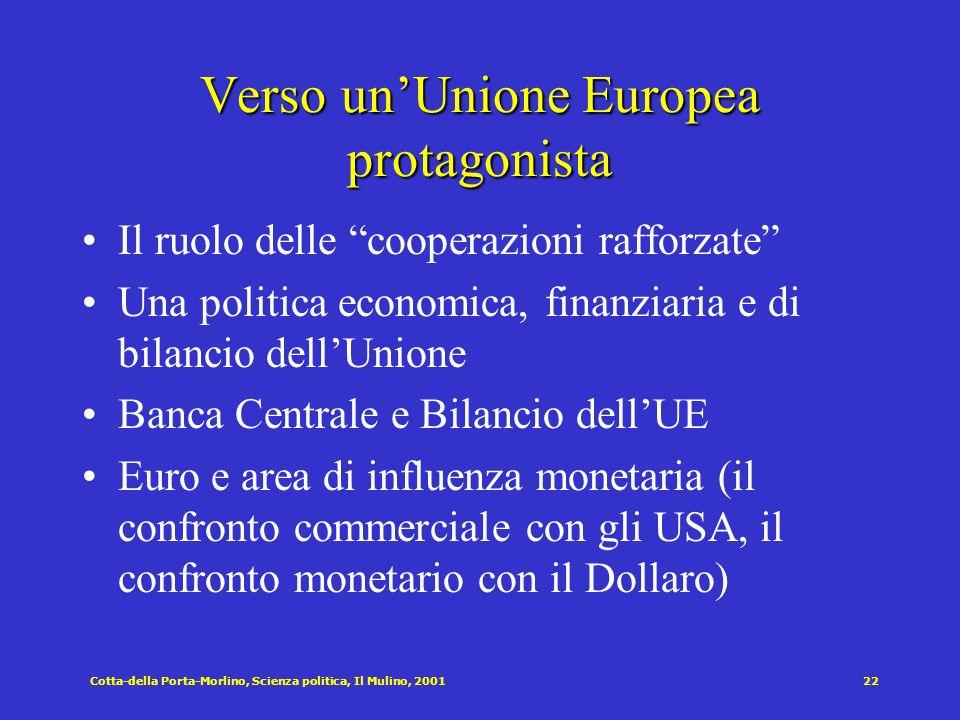 Verso un'Unione Europea protagonista