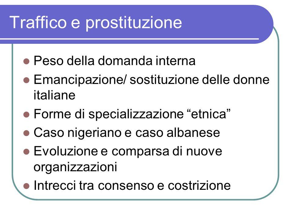 Traffico e prostituzione