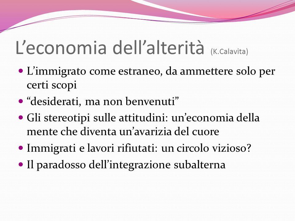 L'economia dell'alterità (K.Calavita)