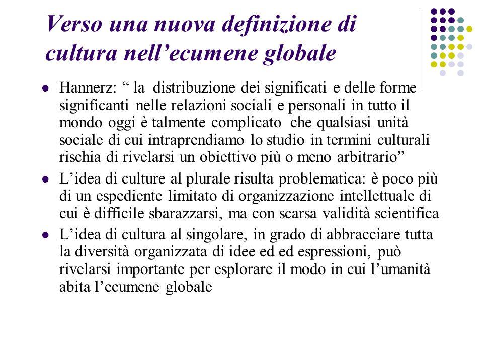 Verso una nuova definizione di cultura nell'ecumene globale