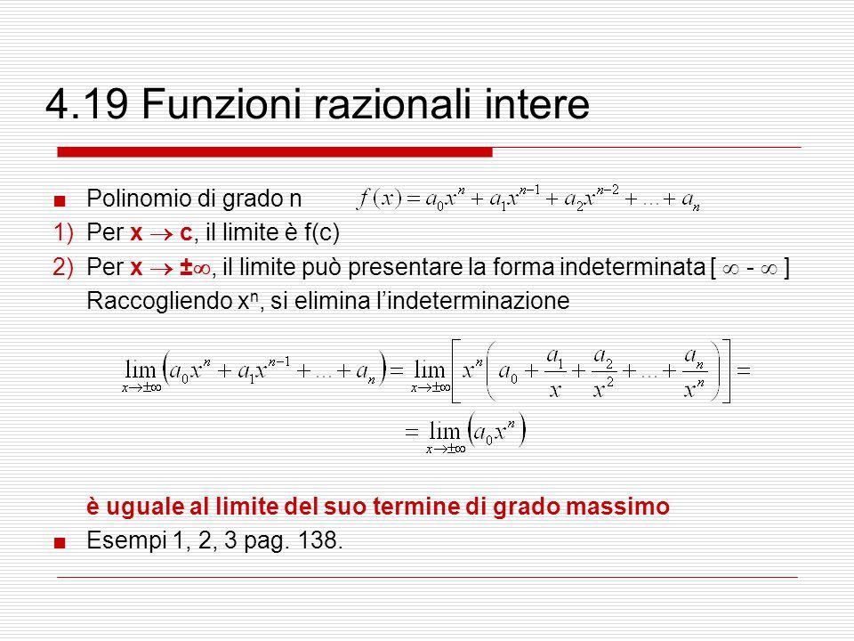 4.19 Funzioni razionali intere