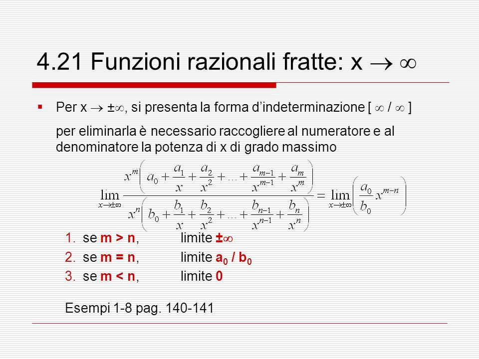 4.21 Funzioni razionali fratte: x  