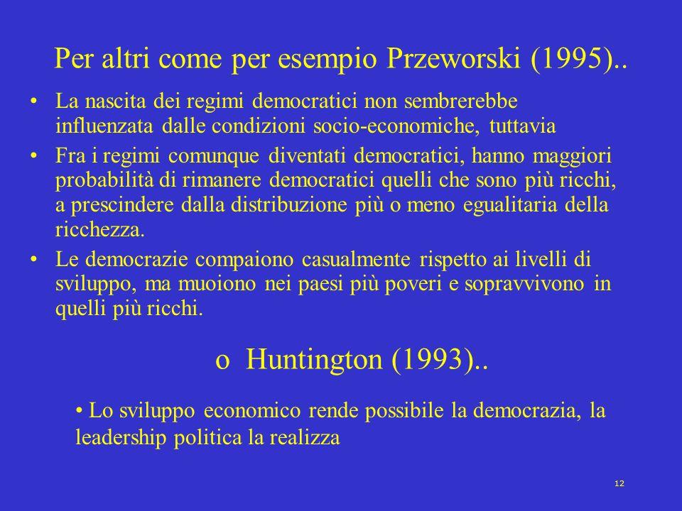 Per altri come per esempio Przeworski (1995)..