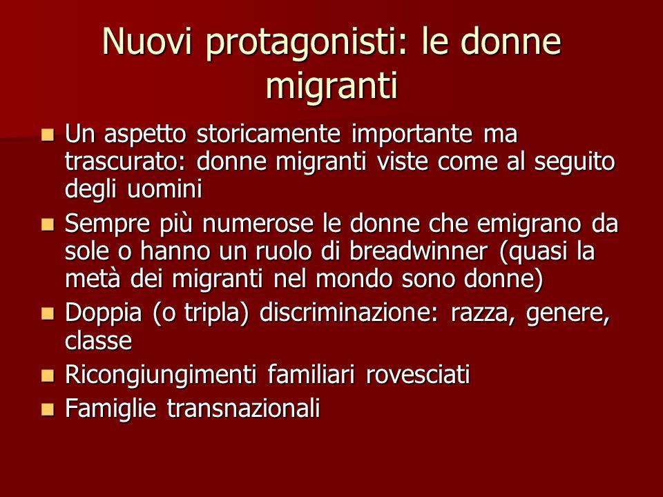 Nuovi protagonisti: le donne migranti