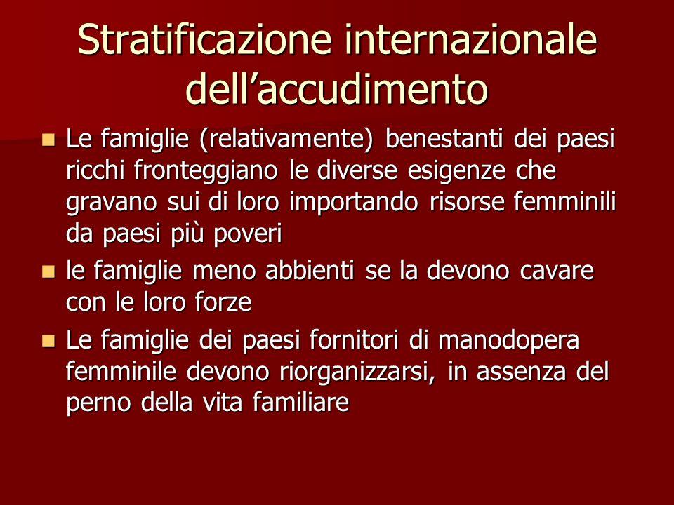 Stratificazione internazionale dell'accudimento