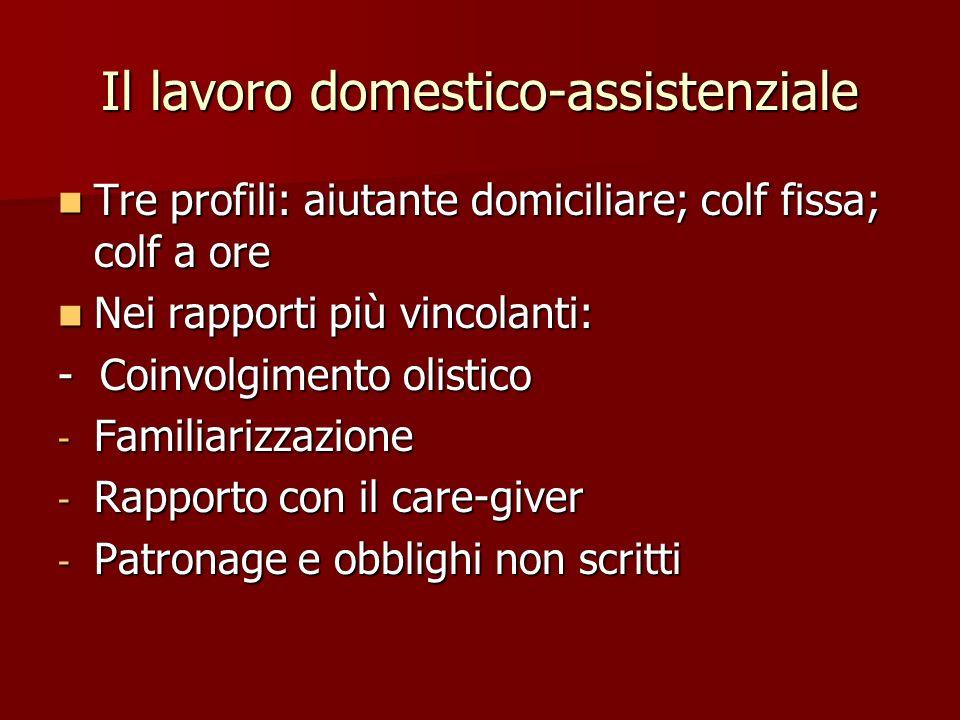 Il lavoro domestico-assistenziale