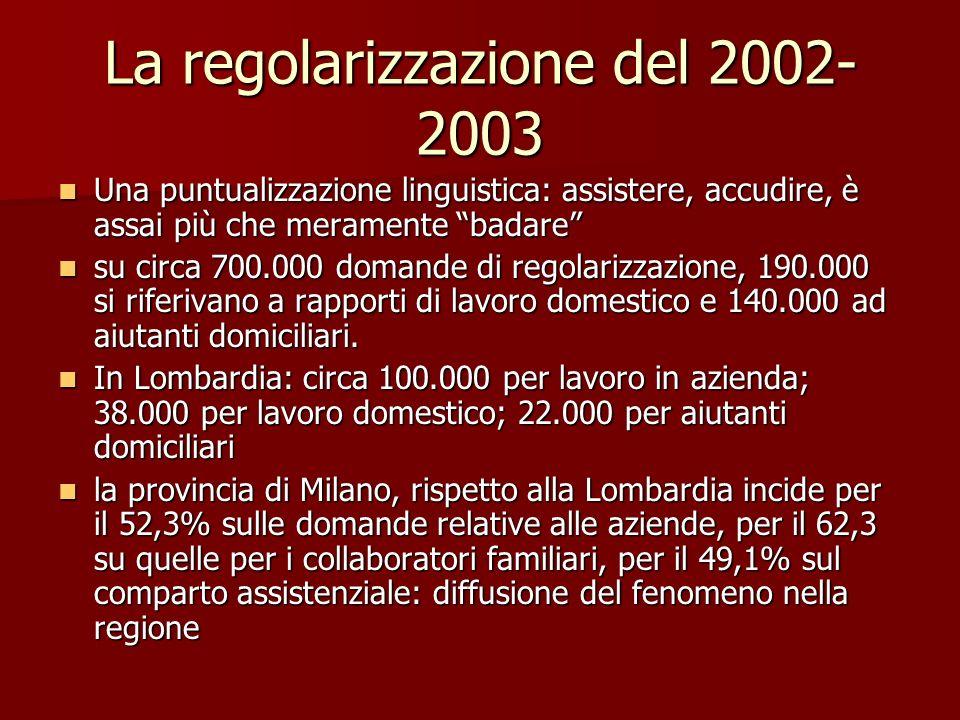 La regolarizzazione del 2002-2003