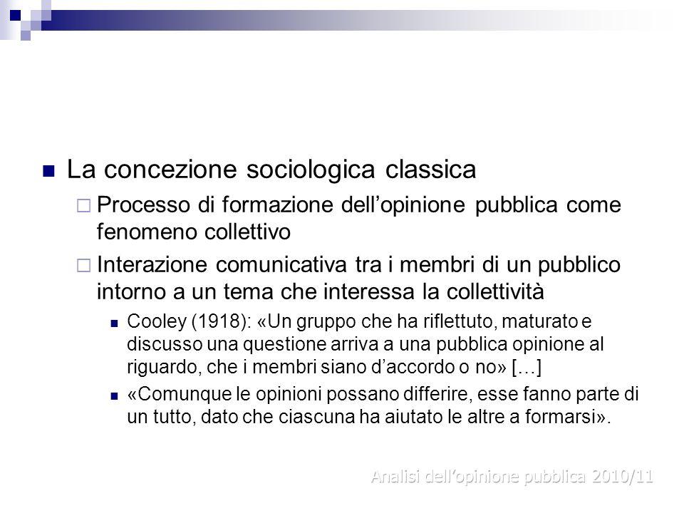 La concezione sociologica classica