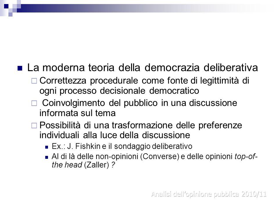 La moderna teoria della democrazia deliberativa