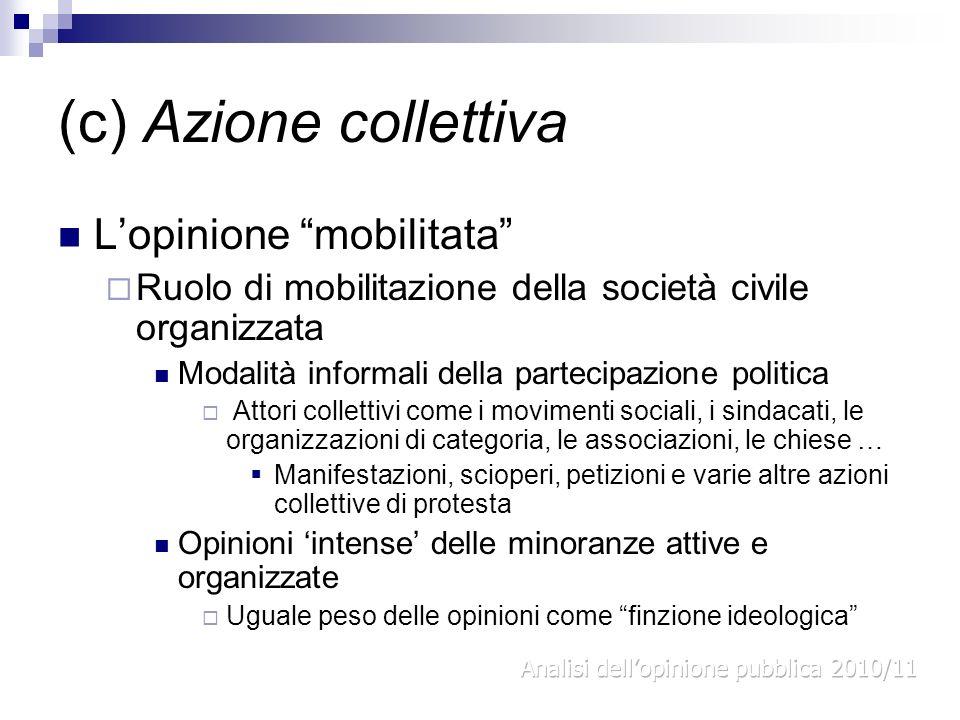 (c) Azione collettiva L'opinione mobilitata