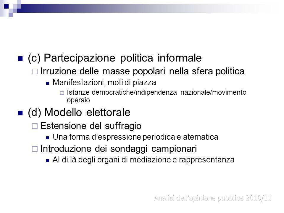 (c) Partecipazione politica informale