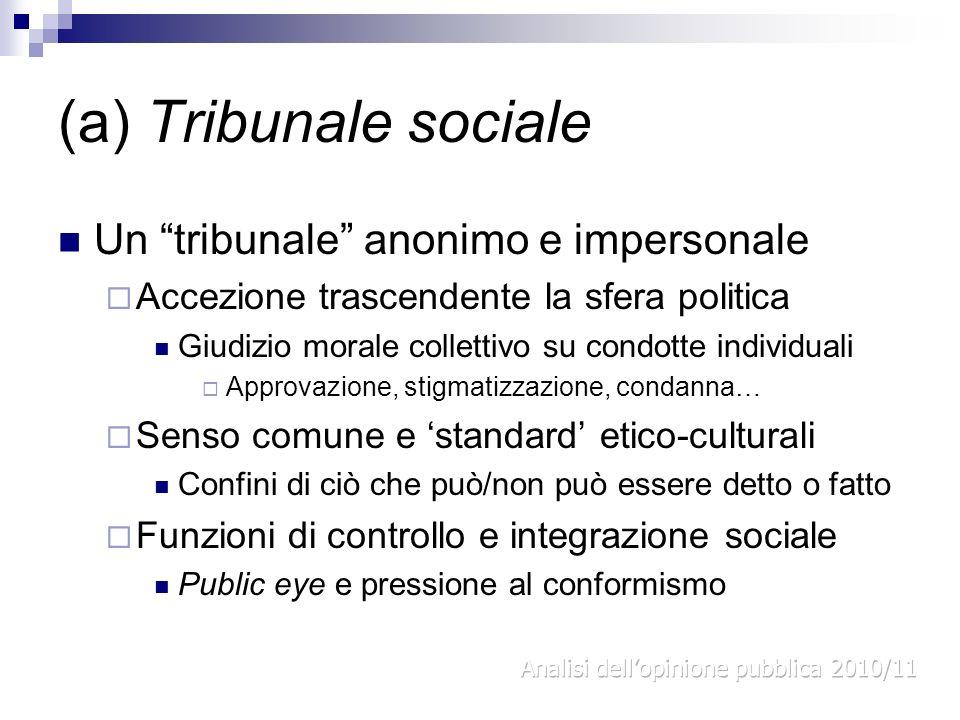 (a) Tribunale sociale Un tribunale anonimo e impersonale