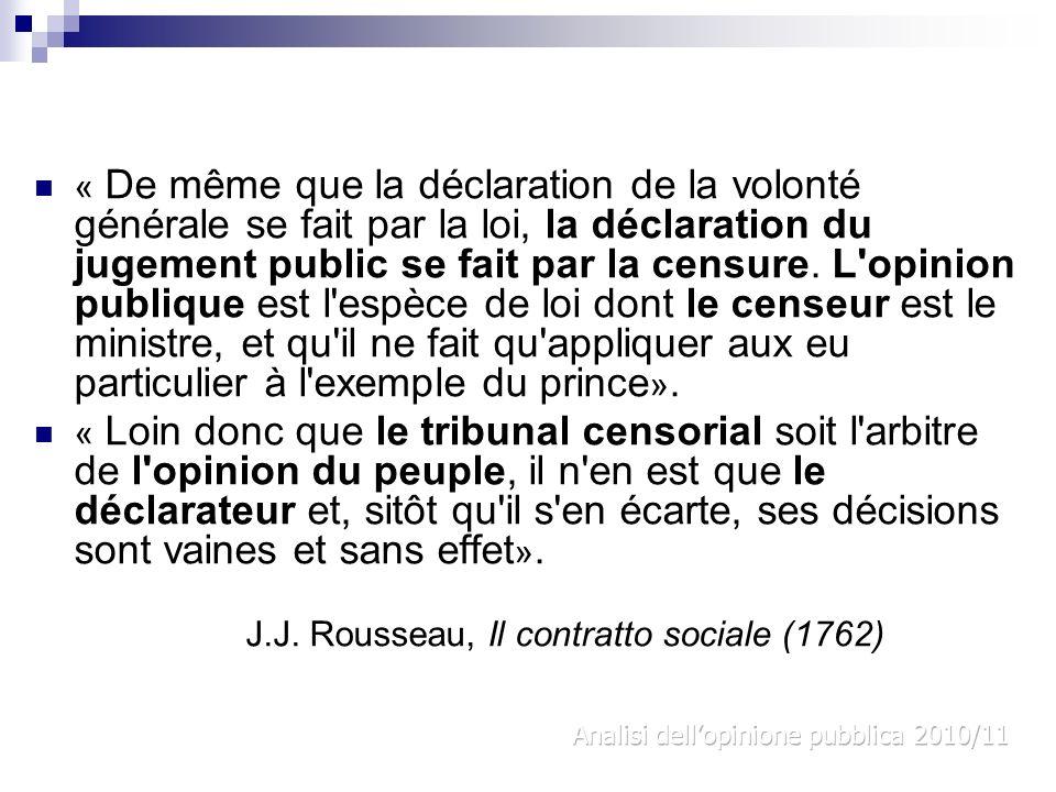 J.J. Rousseau, Il contratto sociale (1762)